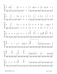 Melt-Hatsune Miku: Project Diva-Numbered-Musical-Notation-Preview-3