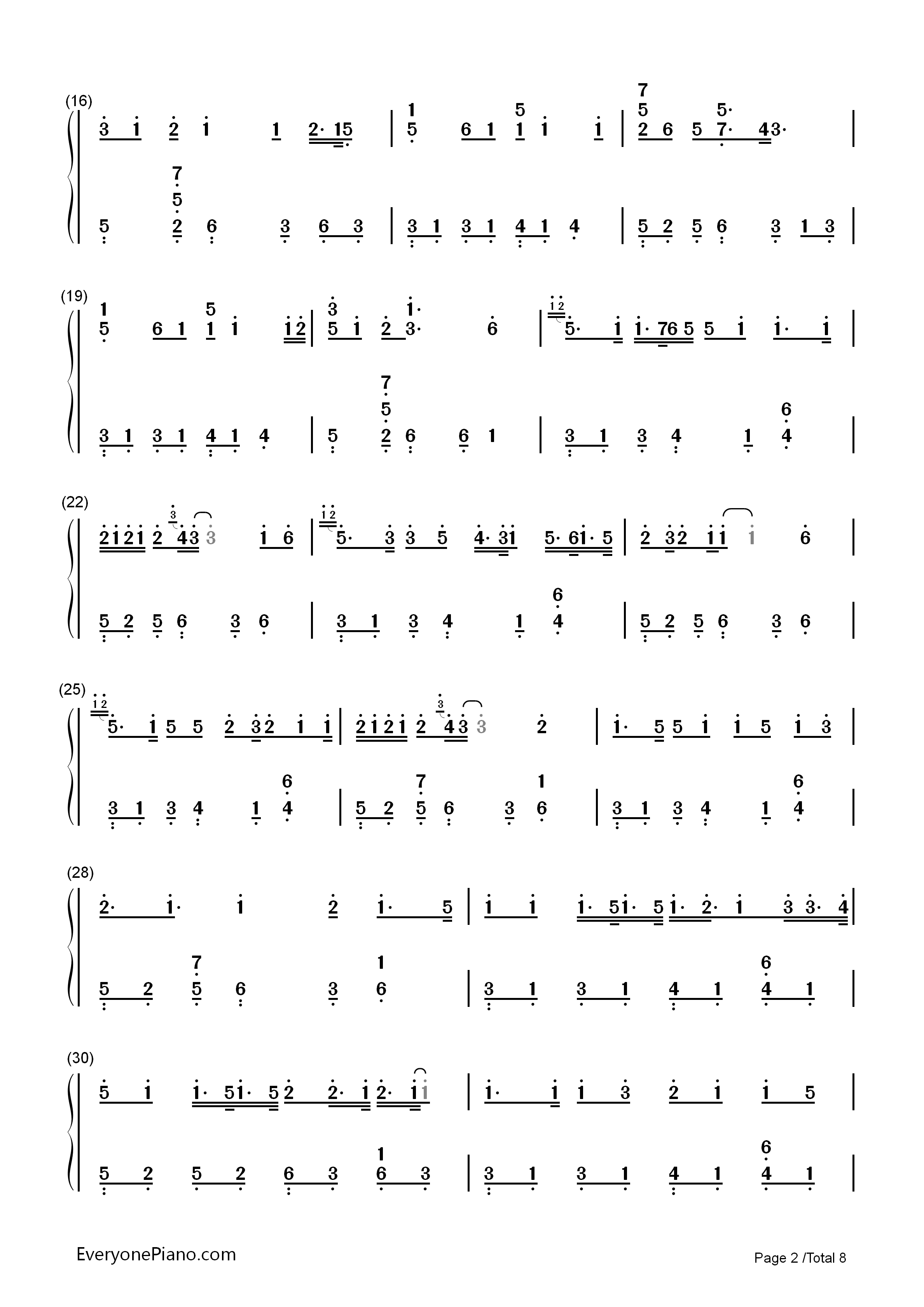 Hello/How Are You?-Hatsune Miku Numbered Musical Notation Preview 2