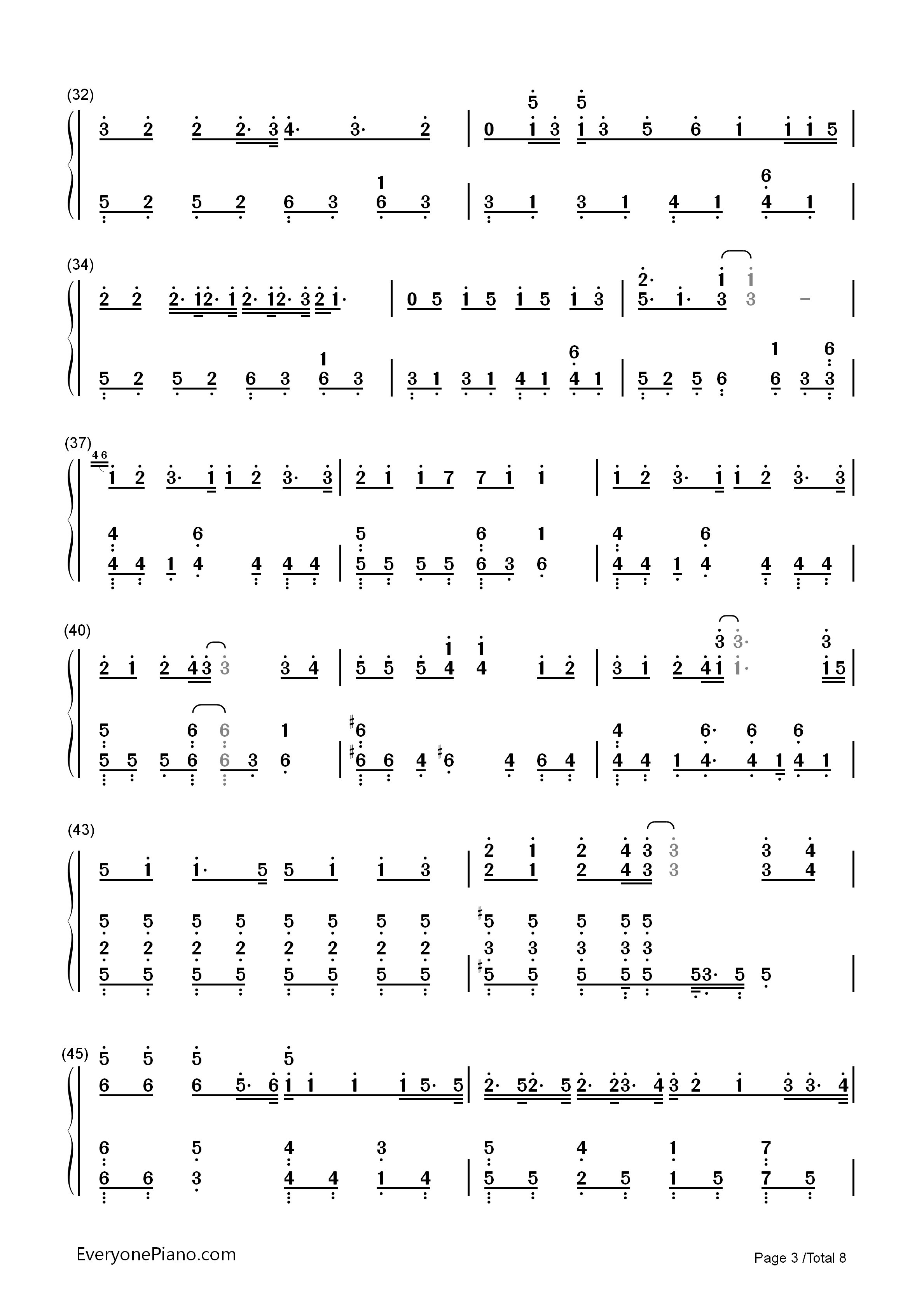 Hello/How Are You?-Hatsune Miku Numbered Musical Notation Preview 3