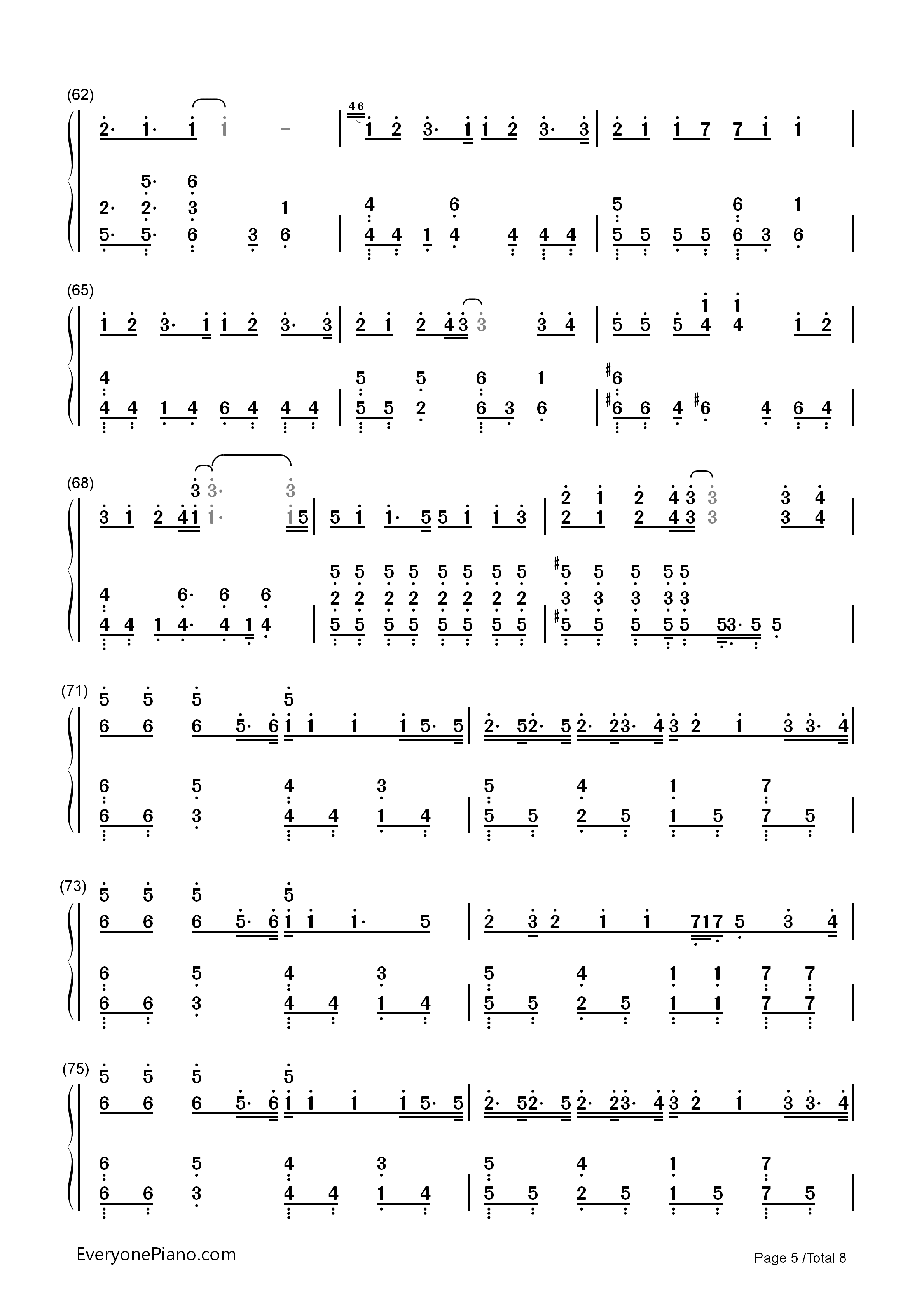 Hello/How Are You?-Hatsune Miku Numbered Musical Notation Preview 5
