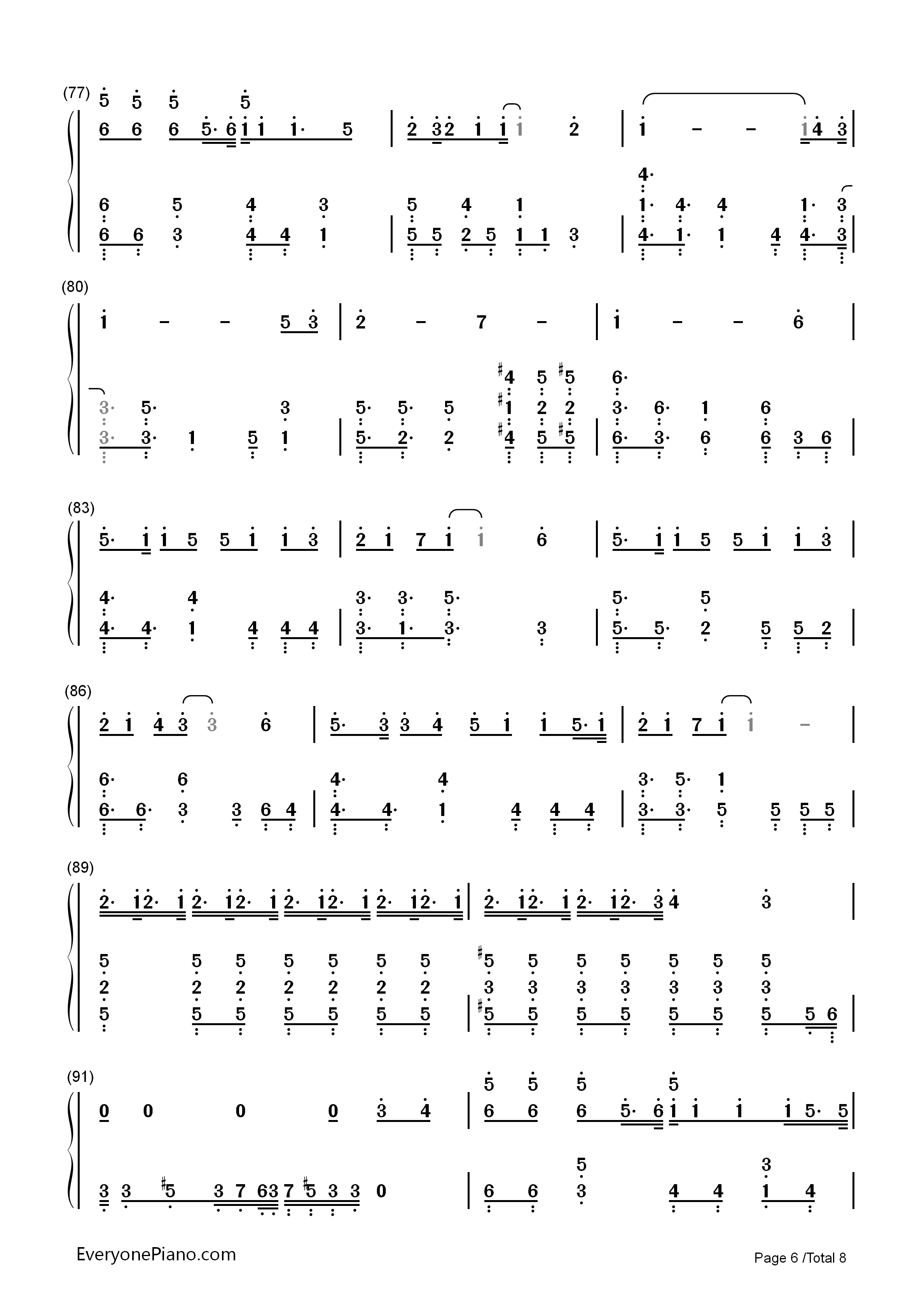 Hello/How Are You?-Hatsune Miku Numbered Musical Notation Preview 6