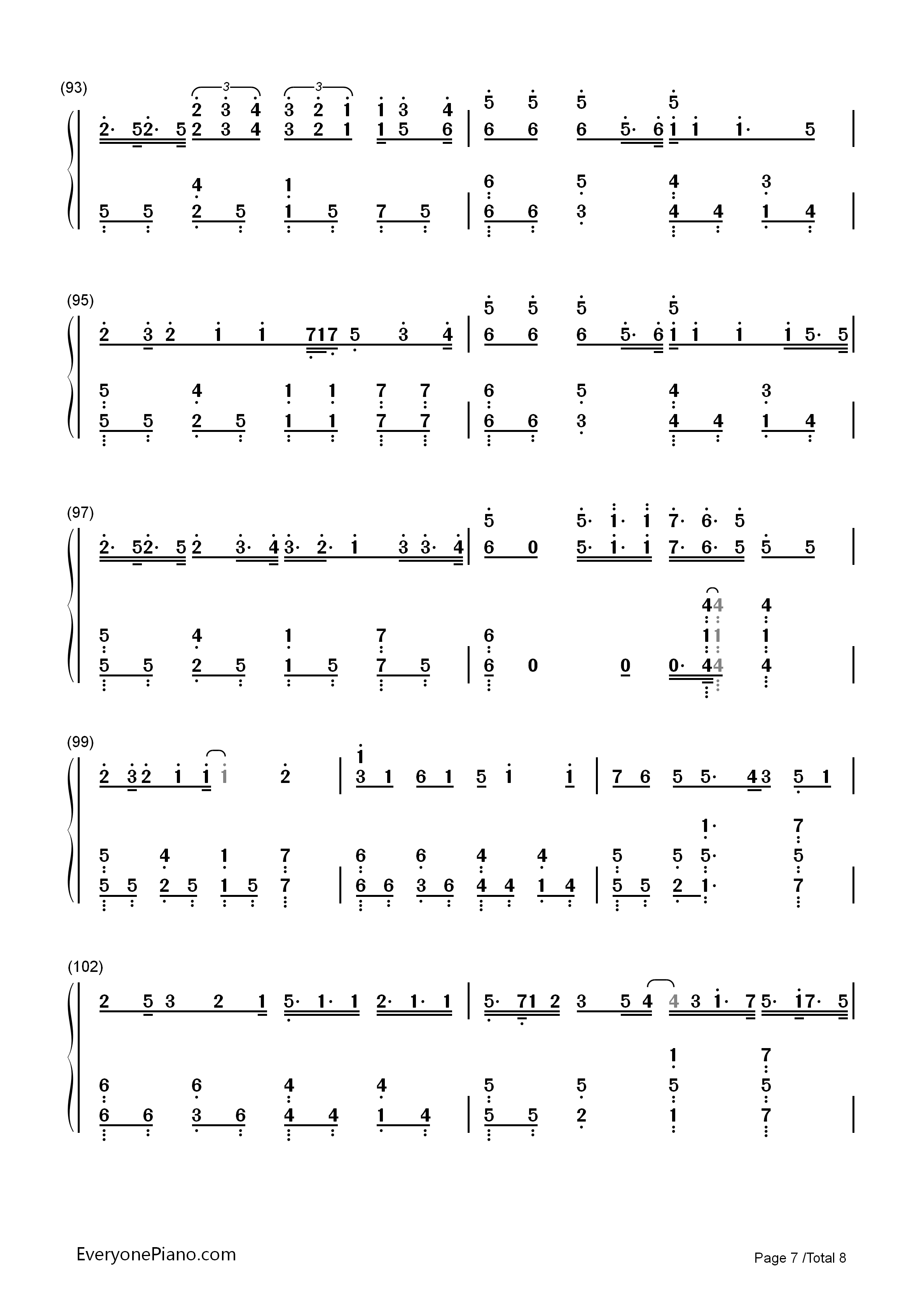 Hello/How Are You?-Hatsune Miku Numbered Musical Notation Preview 7