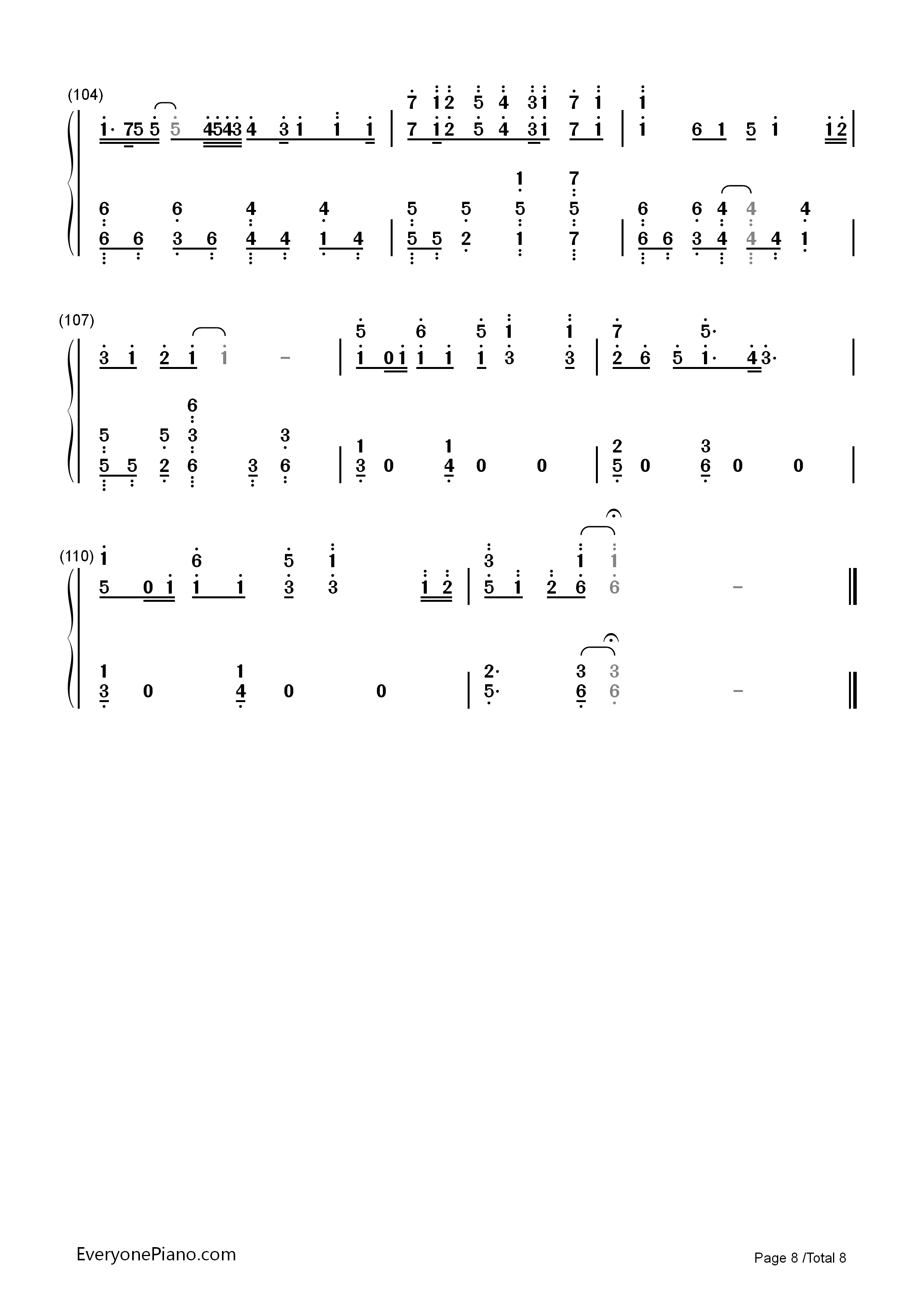 Hello/How Are You?-Hatsune Miku Numbered Musical Notation Preview 8