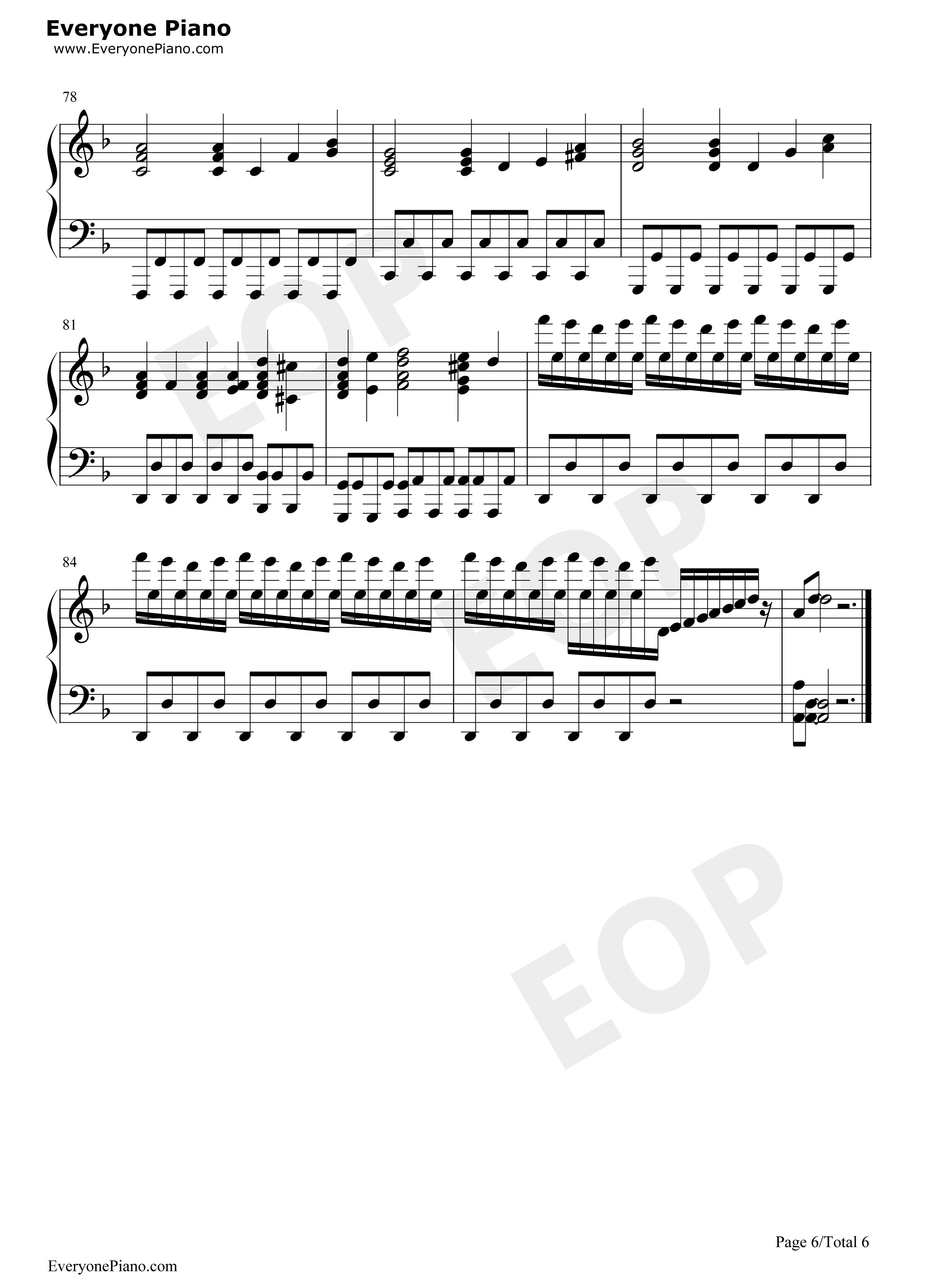 Handels Sarabande Maksim Mrvica Stave Preview 6 Free Piano Sheet