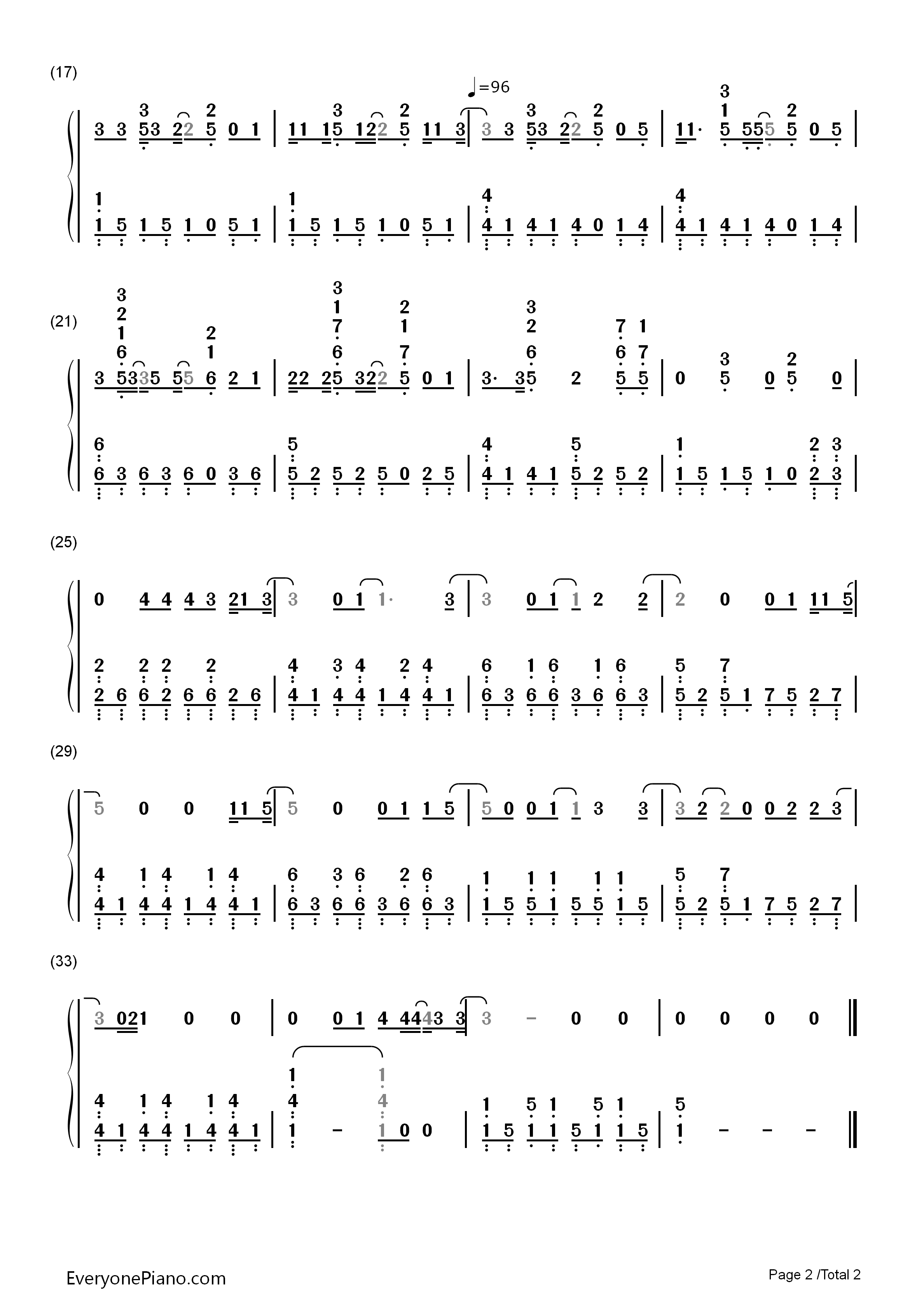 Little things one direction numbered musical notation preview 2 listen now print sheet little things one direction numbered musical notation preview 2 hexwebz Images