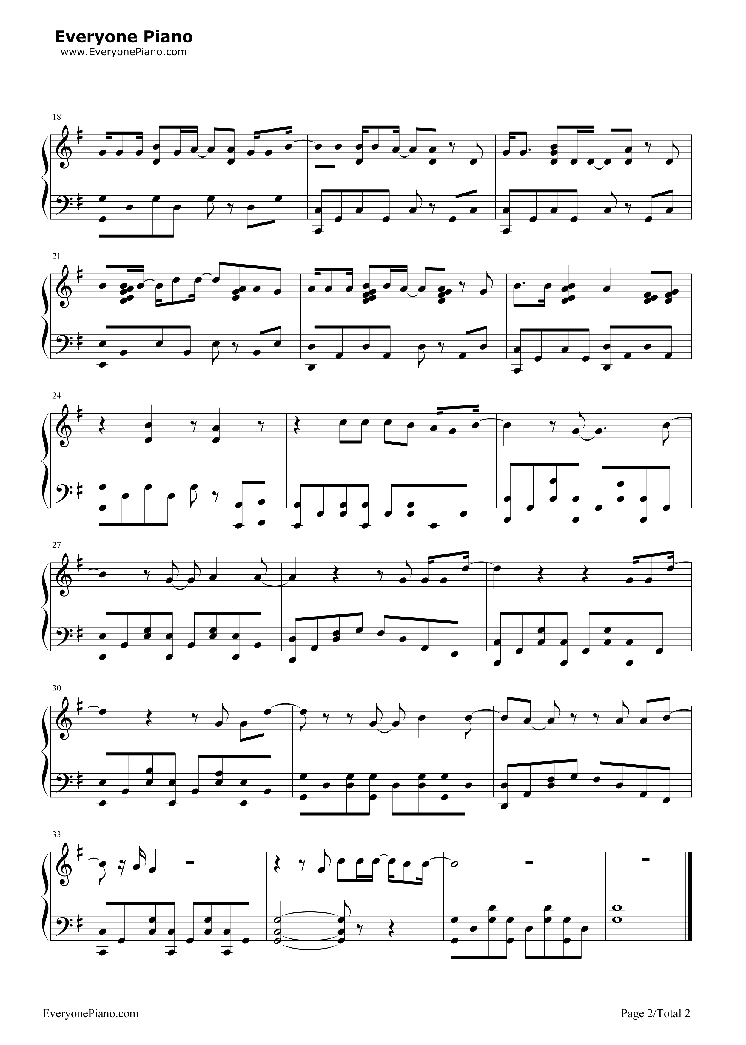 Little things one direction stave preview 2 free piano sheet listen now print sheet little things one direction stave preview 2 hexwebz Images