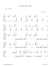 You Are Not Alone-Michael Jackson-Numbered-Musical-Notation-Preview-1