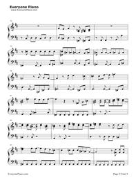Change the World-InuYasha OP Free Piano Sheet Music ...