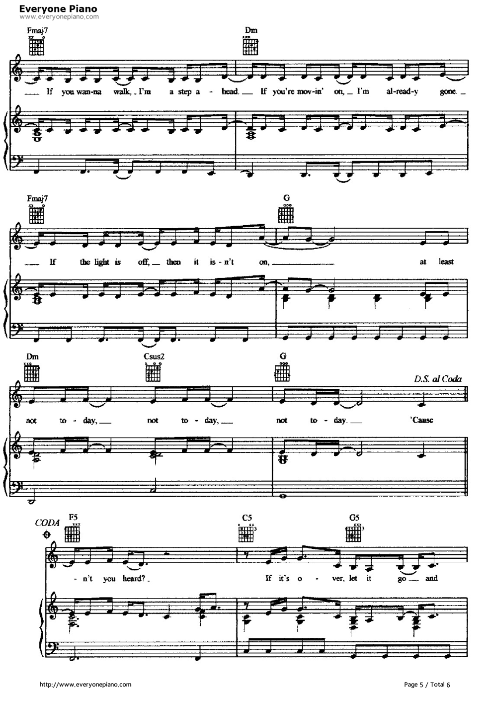 ... -Hilary Duff Stave Preview 5-Free Piano Sheet Music & Piano Chords