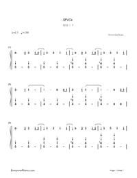 SPiCa-Hatsune Miku-Numbered-Musical-Notation-Preview-1
