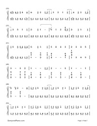 SPiCa-Hatsune Miku-Numbered-Musical-Notation-Preview-3