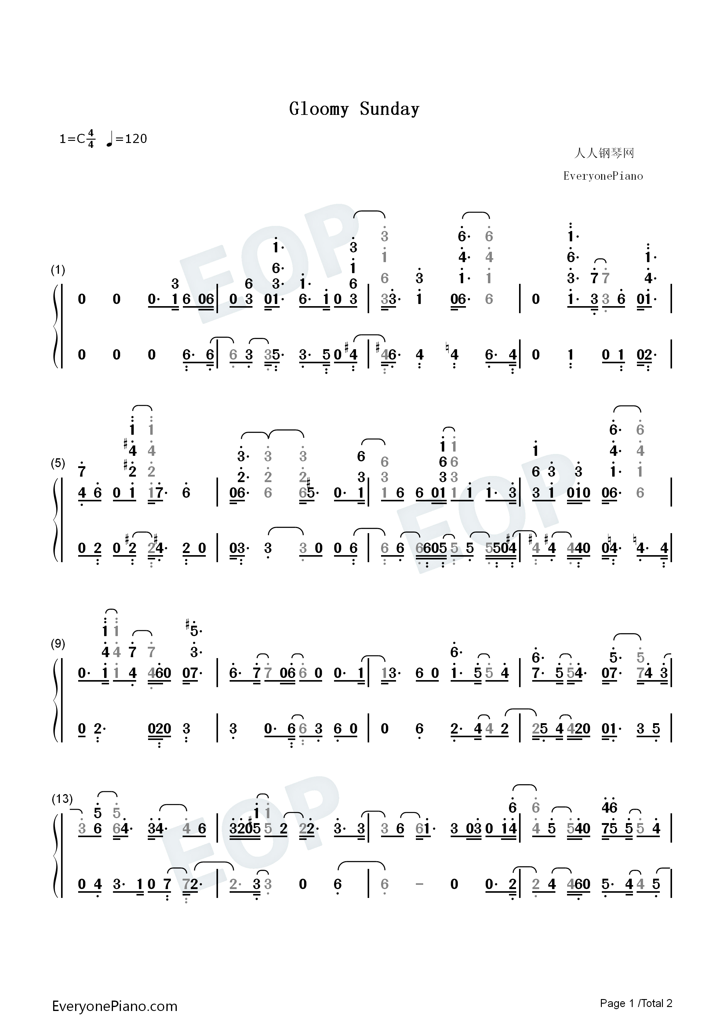 Gloomy sunday billie holiday numbered musical notation preview 1 listen now print sheet gloomy sunday billie holiday numbered musical notation preview 1 hexwebz Image collections