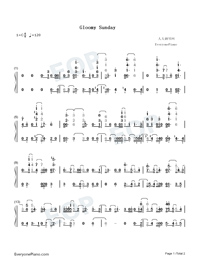 gloomy sundaybillie holiday free piano sheet music