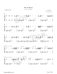The Promise-Secret Garden Numbered Musical Notation Preview 1