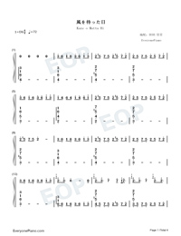 Kaze o Matta Hi-Kanon BGM-Numbered-Musical-Notation-Preview-1
