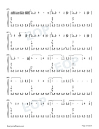 Kaze o Matta Hi-Kanon BGM-Numbered-Musical-Notation-Preview-3