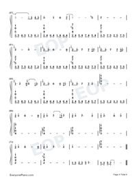 Kaze o Matta Hi-Kanon BGM-Numbered-Musical-Notation-Preview-4