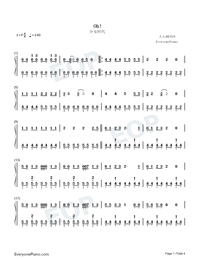 Oh!-Girls' Generation-Numbered-Musical-Notation-Preview-1