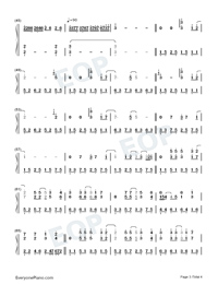 Everytime-Britney Spears-Numbered-Musical-Notation-Preview-3