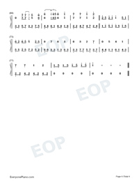 Everytime-Britney Spears-Numbered-Musical-Notation-Preview-4