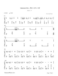 Cantarella-Hatsune Miku-Numbered-Musical-Notation-Preview-1