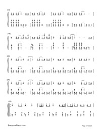 Cantarella-Hatsune Miku-Numbered-Musical-Notation-Preview-2