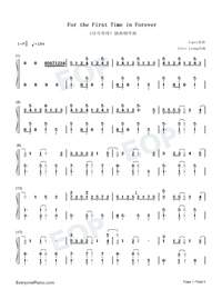 For the First Time in Forever-Frozen OST Numbered Musical Notation Preview 1