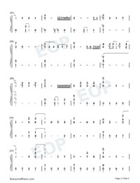 For the First Time in Forever-Frozen OST Numbered Musical Notation Preview 2