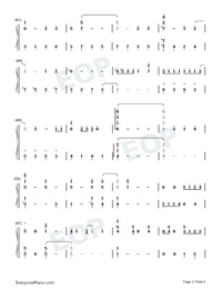 For the First Time in Forever-Frozen OST Numbered Musical Notation Preview 3