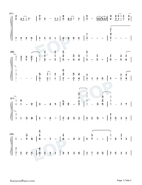 For the First Time in Forever-Frozen OST Numbered Musical Notation Preview 5