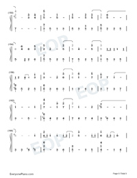 For the First Time in Forever-Frozen OST Numbered Musical Notation Preview 8
