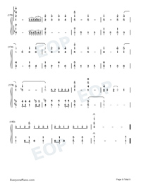 For the First Time in Forever-Frozen OST-Numbered-Musical-Notation-Preview-9