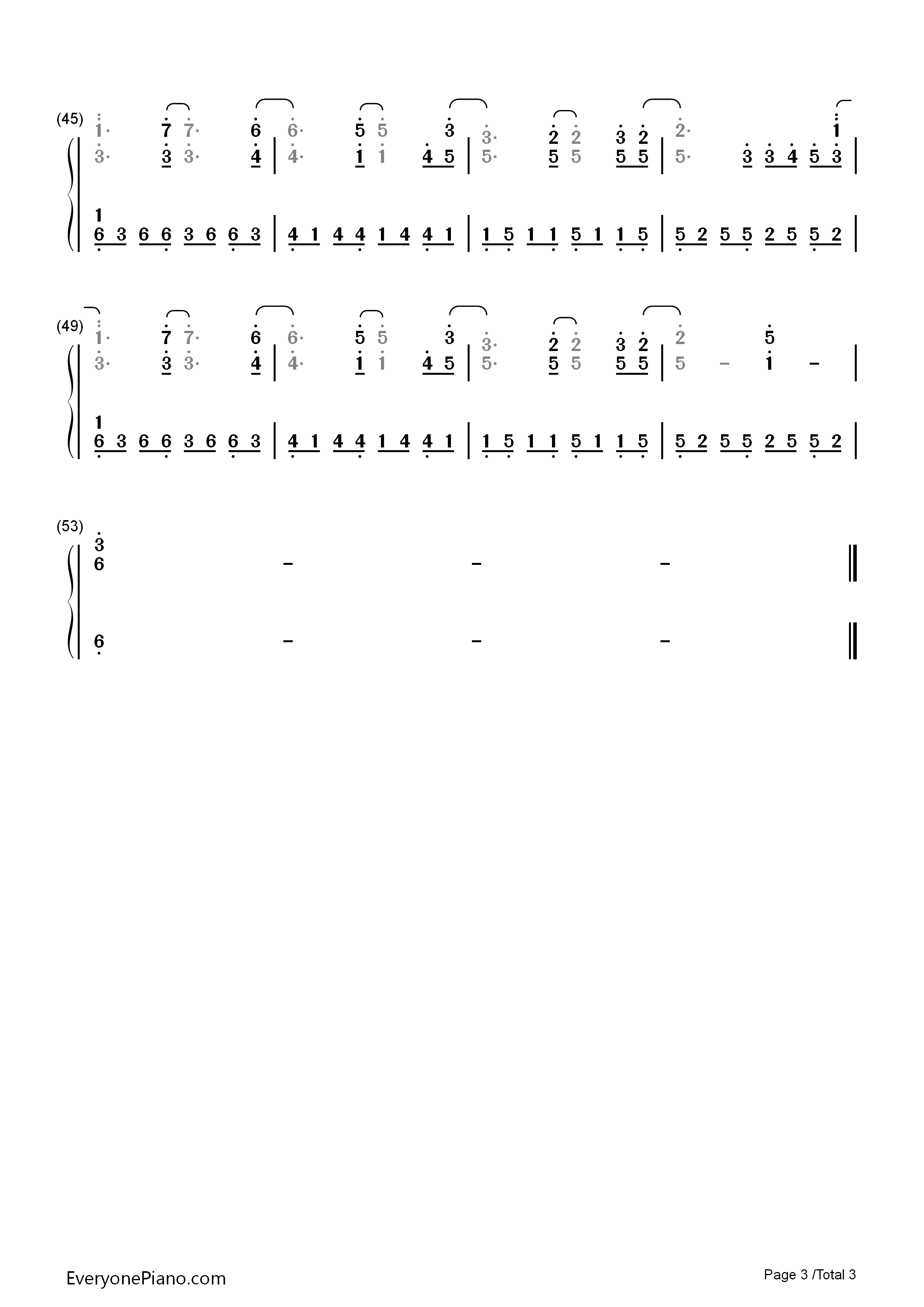 All of me john legend numbered musical notation preview 3 free listen now print sheet all of me john legend numbered musical notation preview 3 hexwebz Gallery