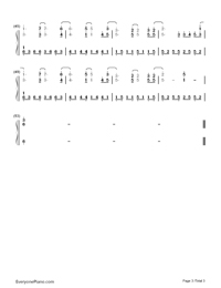 All of Me-John Legend Numbered Musical Notation Preview 3