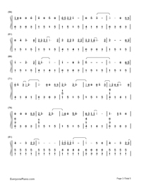 Adore You-Miley Cyrus-Numbered-Musical-Notation-Preview-3