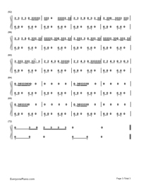 Talk Dirty-Jason Derulo Numbered Musical Notation Preview 3