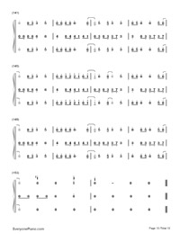 Happy-Pharrell Williams Numbered Musical Notation Preview 10