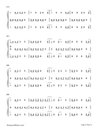 Happy-Pharrell Williams Numbered Musical Notation Preview 6