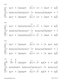 Happy-Pharrell Williams Numbered Musical Notation Preview 9