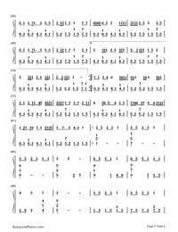 ぼくらのレットイットビー-初音ミク両手略譜プレビュー2