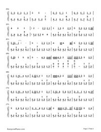 ぼくらのレットイットビー-初音ミク両手略譜プレビュー3