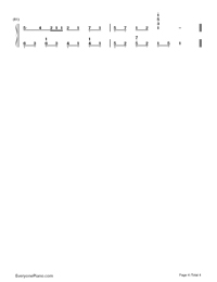 ぼくらのレットイットビー-初音ミク両手略譜プレビュー4