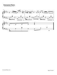 ぼくらのレットイットビー-初音ミク五線譜プレビュー6
