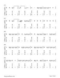 Can't Remember to Forget You-Shakira & Rihanna-Numbered-Musical-Notation-Preview-3