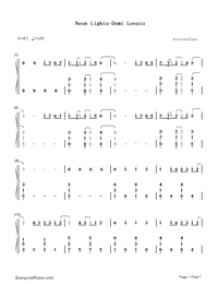 Neon Lights-Demi Lovato-Numbered-Musical-Notation-Preview-1