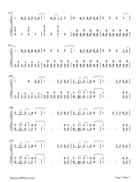 Neon Lights-Demi Lovato-Numbered-Musical-Notation-Preview-2