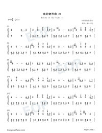 Melody of the Night 31-Numbered-Musical-Notation-Preview-1