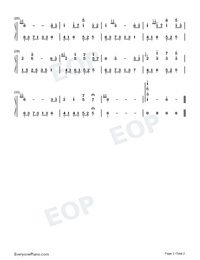 Melody of the Night 31-Numbered-Musical-Notation-Preview-2