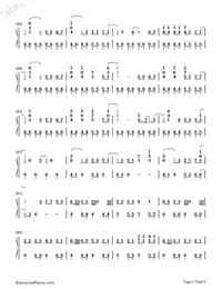 Haru Haru-Big Bang-Numbered-Musical-Notation-Preview-3