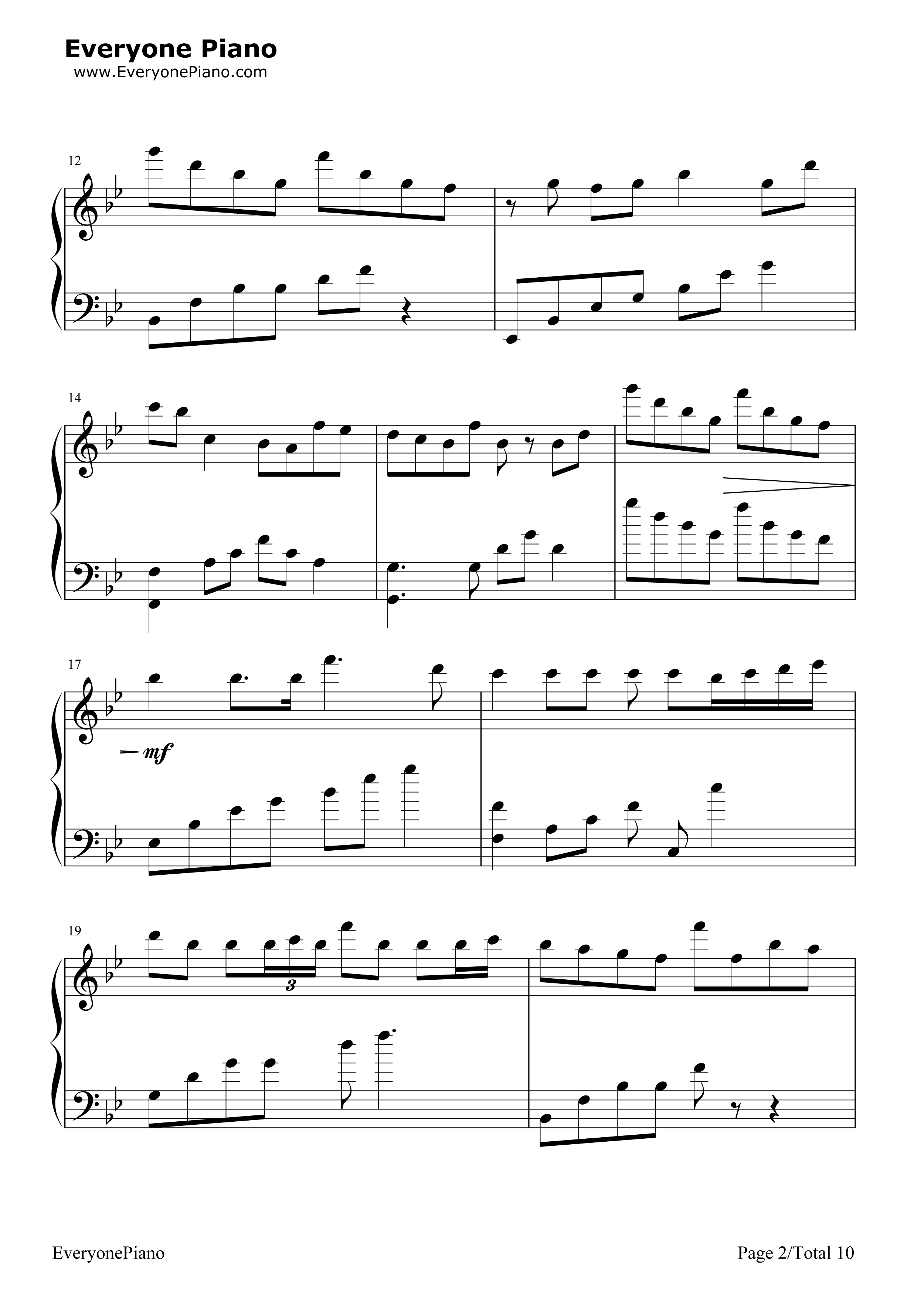 Scary Monsters and Nice Sprites-Skrillex Stave Preview 2-Free Piano Sheet Music u0026 Piano Chords